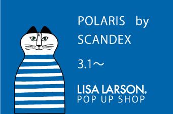 松陰神社前POLARIS by SCANDEXにて リサのヴィンテージがお迎えします